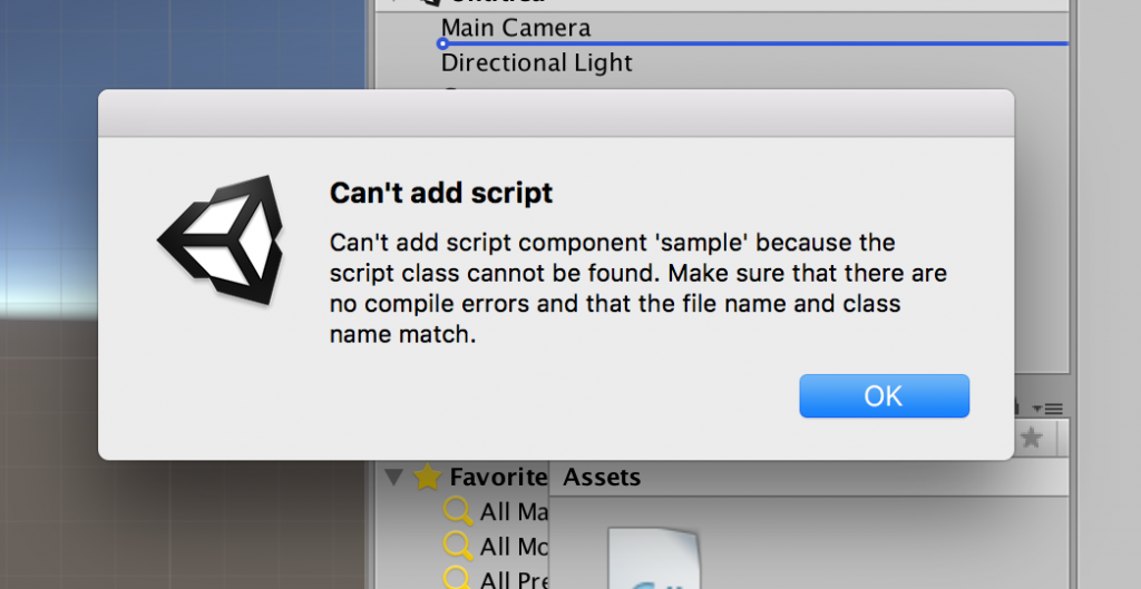 Can't add script