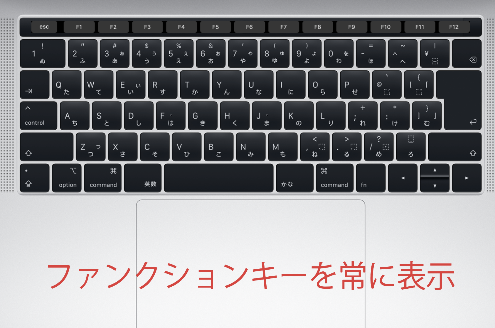 touch bar カスタマイズ
